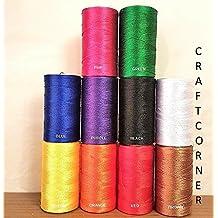 Juego de 10 bobinas de hilo de seda para máquina de coser para bordado de Janome