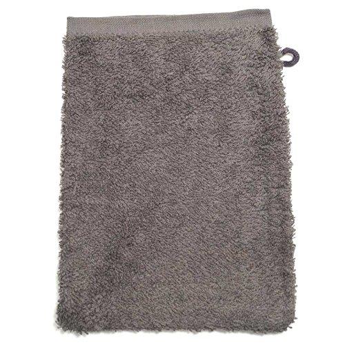 Gant de toilette en éponge gris gant de toilette 500 g/m ² 15 x 21 cm