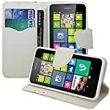 Nokia Lumia 630 Custodia HCN phone®-Custodia a portafoglio, con patta, a portafoglio, chiusura a libro, con supporto integrato, effetto tessuto per Nokia Lumia 630