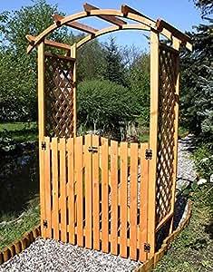 Arche à roses avec portail dIANA 130 x 70 x 206 cm en bois de pin pour pergola arche de construction de pergola