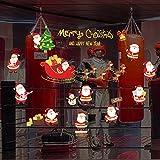 Worsworthy Fensteraufkleber Weihnachten Wandaufkleber,Weihnachtsdeko Merry Christmas Schaufensterdekoration Weihnachtssticker AufkleberWand Haftende Aufkleber Süß Fensteraufkleber