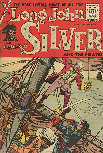 poster-comics-cover-charlton-long-john-silver-and-the-pirates-32-vintage-wall-art-print-a3-replica