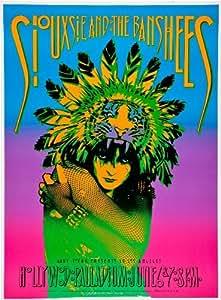 SIOUXSIE AND THE BANSHEES REPRODUCTION 1986 TOUR PROMO AFFICHE DE PHOTO REPRODUCTION 40 X 30 CM-LOT DE 2