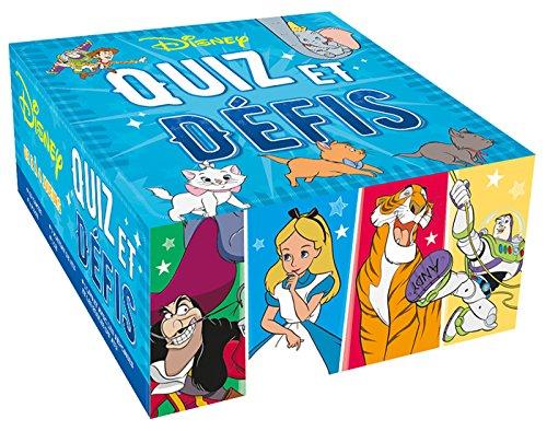 Disney Quiz et Défis : 1 plateau de jeu, 4 pions, 1 dé, 1 livret