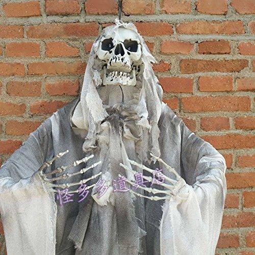 Halloween Horror Requisiten Geheimen Raum Spuk Haus Dekoration Lieferungen scary Gesicht Schädel Menschen blinkende Lichter Anhänger Kleid, D