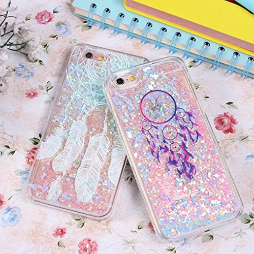 iPhone 6/6S Coque - 3D Design Créatif Prime Luxe Shine Flow Sand Adorable Flowing Flottant Mouvement Shine Glitter Sequins Bling Cute Pattern Téléphone Case pour iPhone 6/6S - Born to Shine 12-C