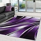 Moderner Designer Wohnzimmer Teppich Parma 9210 Lila - 160x230 cm