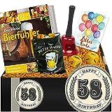 Zum 58. Geburtstag | Geschenk Bierparty | Geschenke zum 58ten Geburtstag