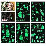 Howaf Navidad Tatuajes temporales para niños, 101Pcs Luminoso Navidad Tatuajes Pegatinas para niñas Niños Bolsa Aventuras Piñata Juego Infantiles Fiesta de Cumpleaños