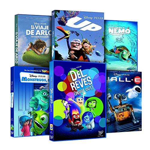 Pack Pixar Imprescindibles (El Viaje de Arlo + Inside Out (Del Revés) + Monstruos S.A. + Buscando A Nemo + Wall-E + Up… 6
