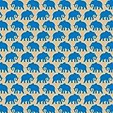 Suttons wrap - Carta regalo con motivo stampato di elefanti blu, 5 fogli