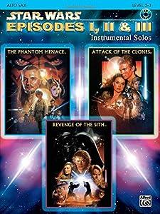 Star Wars Episodes I, II & III Instrumental Solos: Alto Sax (Book & CD)