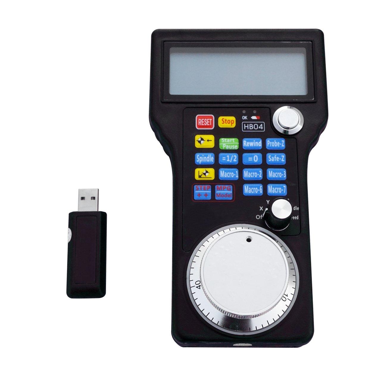 ECO-WORTHY Wireless Handrad MPG Anhänger USB Mach 3 für CNC 3 4 Achsen Fräsmaschine, CNC-Drehmaschinen