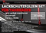 Carbon Steinschlagschutz Lackschutz Folien Set, 29 Teile, 160µm Fahrrad Bike BMX Vergleich