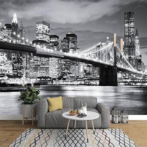 Tapeten Wandbild WandaufkleberFototapete Brooklyn Bridge New York Designer-Wandgemälde Vinyltapete Papel De Parede Adesivo 3D-Tapete @ 250 * 175Cm