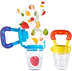 Unique Ideas Silicone Fruit/Veggie & Food Nibbler - Premium Quality - BPA Free (Colour May Vary) Pack of 2