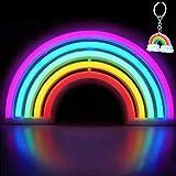 XIYUNTE Rainbow Leuchtschilder - LED Regenbogen Neonlicht bunt Rainbow Neonschild Wandlichter, Batterie oder USB betrieben Re
