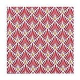 Tissu coton enduit écailles - Rouge - Largeur 160 cm- Longueur au choix par 50cm