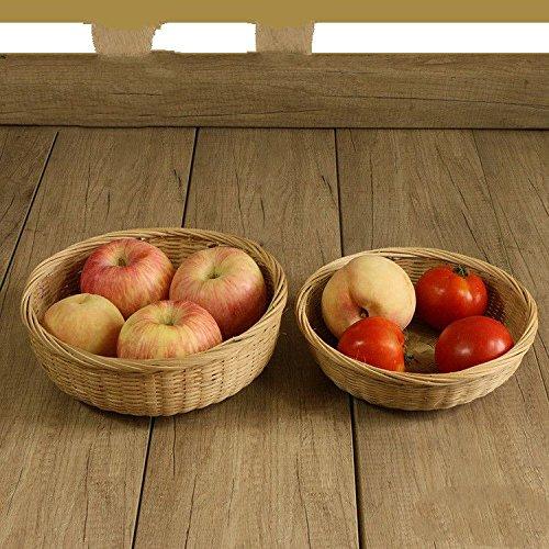 XBR der Bambus kunsthandwerk aus Bambus runden blauen gemüse Stricken Korb und Obst zu Hause,21 × 6 cm -