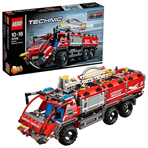 LEGO Technic 42068 - Flughafen Löschfahrzeug - Erweiterbar Auf Vier Rädern