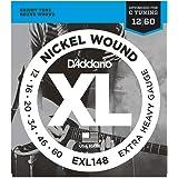 D'Addario EXL148 Cordes en nickel pour guitare électrique Très lourd 12-60