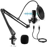 Microfono a Condensatore USB, UYIKOO Microfono Professionale Cardioid con Supporto Antiurto, Filtro Pop per PC Gaming…