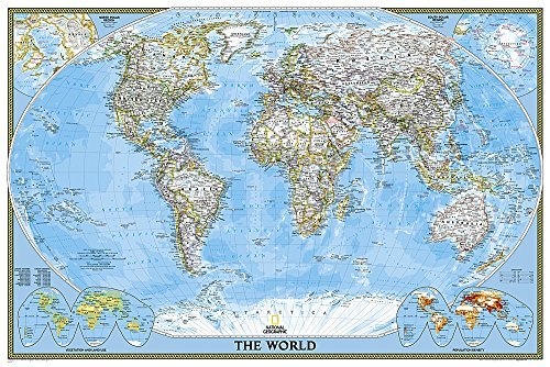 World Classic [Poster Size and Laminated] (National Geographic Reference Map) by National Geographic Maps - Reference (2015-10-13)