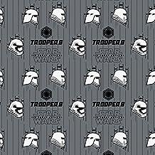"""Star Wars Tela stromtroopers color gris cascos de Star Wars """"el despertar de la fuerza"""" tela–0,5m múltiplos–cam93–espacio tela–100% algodón (Stormtroopers cascos gris Star Wars cam93)"""