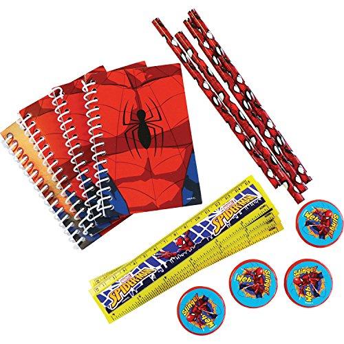 Amscan International Spiderman Schreibwaren-Set, 20-teilig (Spiderman-geburtstag-kerze)