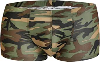 ONEFIT Mens Camouflage Boxer Briefs Slim Low Waist Pants U Convex Underwear