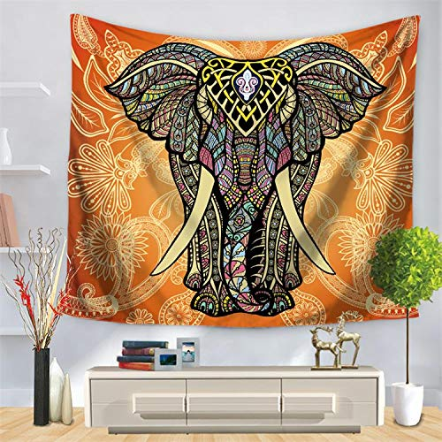 andala-Bunte Elefant Bedruckte Tapisserie-Wand-hängende Strand-Wurfmatte Hippie-Bettdecke-Yoga-Matten-Decke, 150cmx200cm, O27 ()