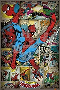POSTER AFFICHE NEUF 91,5X61CM MARVEL COMICS SPIDERMAN RETRO