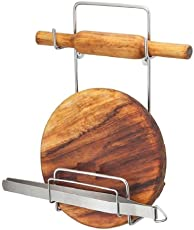 SHOPEE Branded Stainless Steel Rolling Pin Holder Chakla Belan Stand