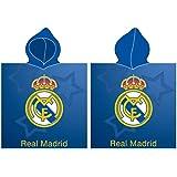 Real Madrid Poncho Playa Toalla Tiempo Libre y Sportwear Unisex Infantil