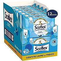 Scottex Fresh Papel Higiénico Húmedo - 12 Paquetes de 40 Toallitas Húmedas, Total: 480 Unidades