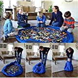 """Justfund 60"""" Protable Toy Organizer And Floor Activity Play Mat Bag Toy Storage Cleanup Pouch Turns Into A Shoulder Bag For Lego Storage Deluxe Toy"""