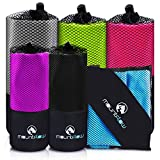 MountFlow Microfibre Towel - Quick Dry Micro Travel Towels for Swimming Pool The Beach Camping Exercising at the Gym Sports Yoga