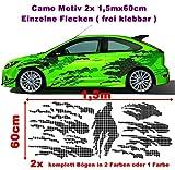Caros Karos Karo Camo 2x 1,5m Camouflage Camo einzelne Flecken Autoaufkleber Aufkleber Sticker Folie Style Bodystyle Karosserieaufkleber Karosseriefolie