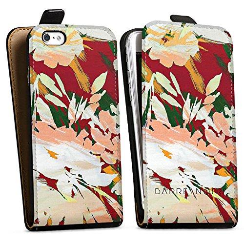 Apple iPhone X Silikon Hülle Case Schutzhülle Blumen Muster Blume Downflip Tasche schwarz