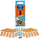 Hot Wheels Track Builder, tramos de pista con vehículo incluido, accesorios para pistas de coches de juguete (Mattel BHT77) ,