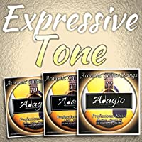 3 PACKS Adagio Pro Acoustic Guitar Strings - Gauges 10, 11 or 12 (Gauge 12)