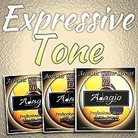 3 PACKS Adagio Pro Acoustic Guitar Strings - Gauges 10, 11 or 12 (Gauge 12)