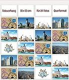 Fotogalerie Fotovorhang Fototaschen Fotohalter Fotowand Taschenvorhang mit 24 Taschen Fotos Querformat 10 x 15