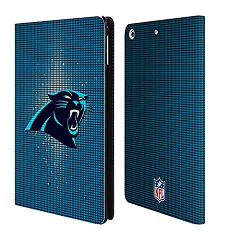 Official NFL LED 2017/18 Carolina Panthers Leather Book Wallet Case Cover For Apple iPad mini 4