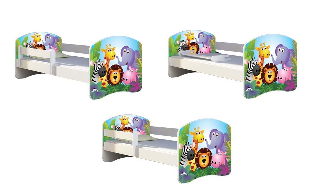 CHILDREN TODDLER KIDS BED + FREE MATTRESS 140x70 (30 Dinosaurs) ACMA  5