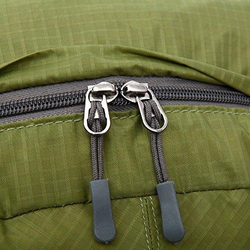 BXT Außenschultertasche Nylon Wasserdicht Rucksack Travel faltbare Rucksack Rot