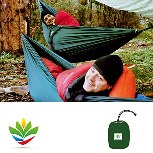 Hammock Bliss Single - Quality You Can Trust - 250 CM Rope Per Side Included - Portable Hammock Ideal For Camping, Backpacking, Kayaking & Travel - Hängematte Eno Net