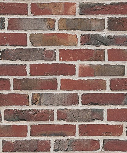 UGEPA Papier peint intissé Brique mural, rouge foncé, 574918