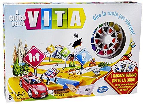 Hasbro 04000456 Il Gioco della Vita Gioco da Tavolo [Versione Italiana]