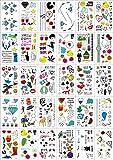 Best Tatouages temporaires sur Amazons - (30 feuilles) Tatouages temporaires pour les enfants, autocollants Review